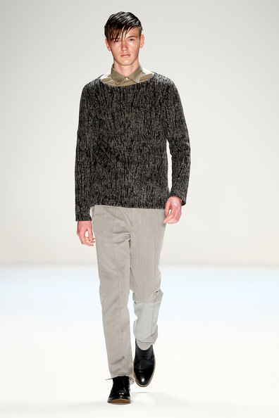 Liam Nikos Farmakis on his catwalk for Marc Stone.
